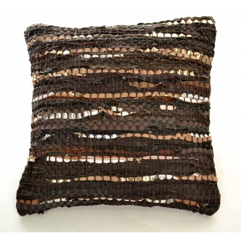 housse de coussin 45x45 coussin cuir zen ethic. Black Bedroom Furniture Sets. Home Design Ideas