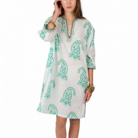 Robe ethnique type caftan pur taille unique 100 coton for Miroir 60x150